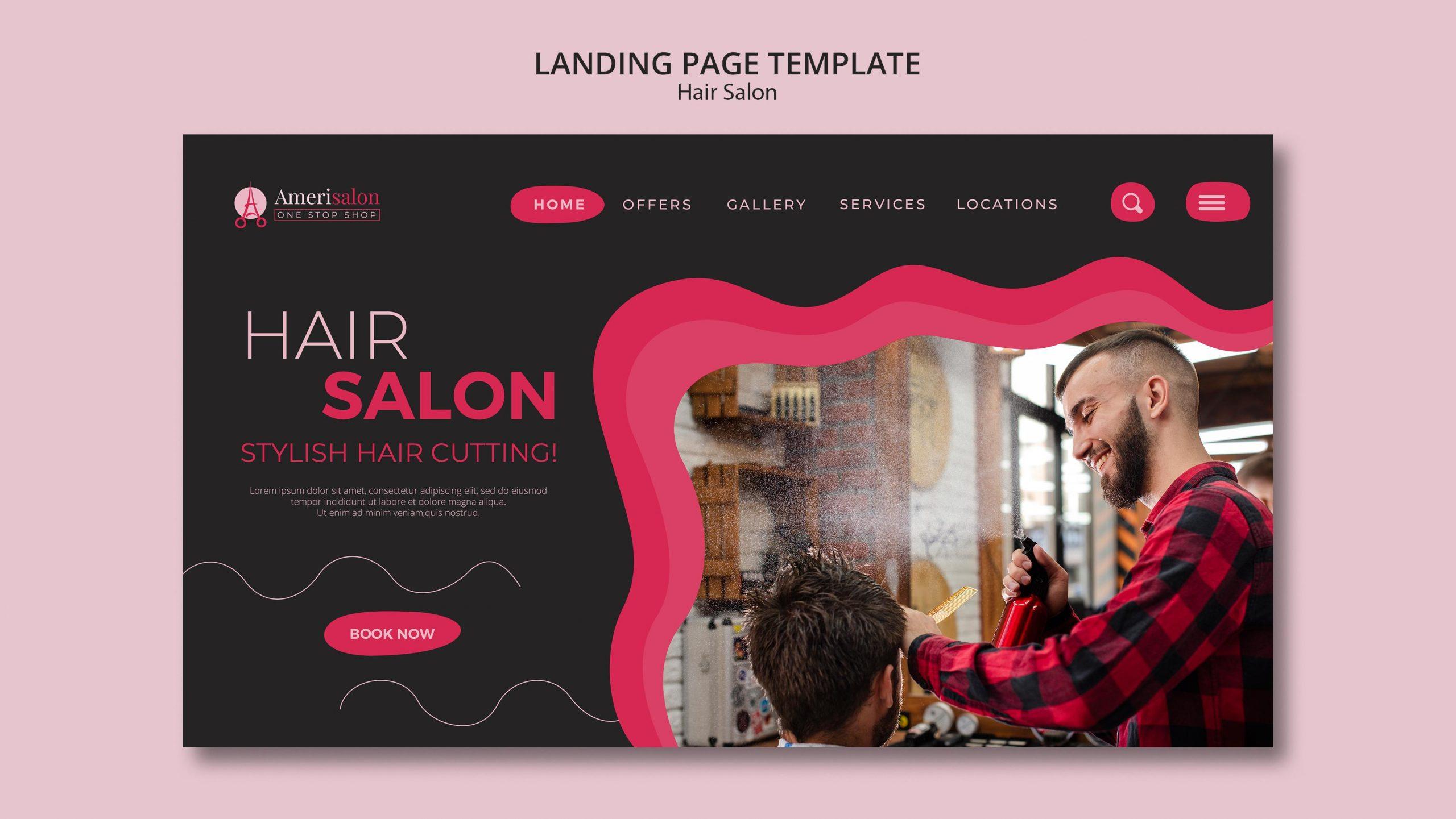 Thiết kế website cho salon tóc CHUYÊN NGHIỆP- UY TÍN