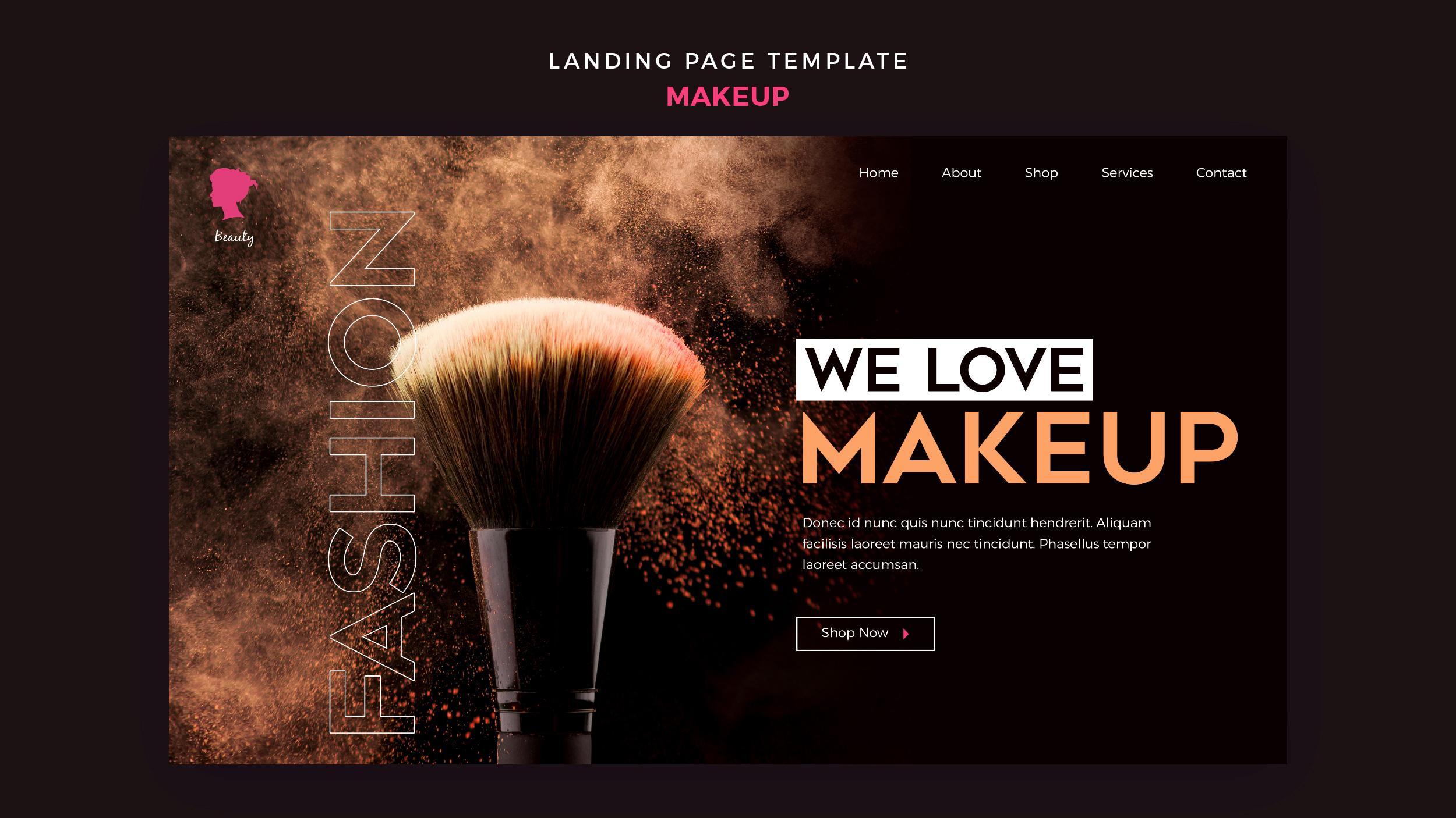 Thiết kế website cho makeup chuyên nghiệp Tp.HCM