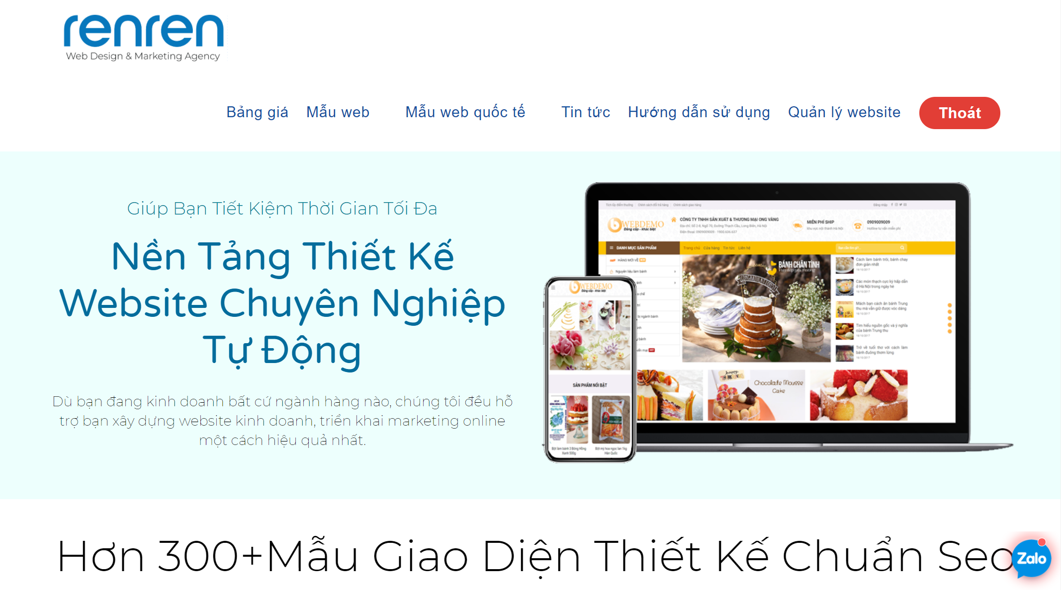 Thiết kế website cho spa uy tín hàng đầu Tp.HCM